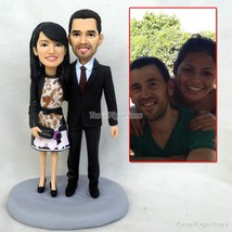 OOAK polymer clay doll statues sculptures wedding decor couple special h... - $148.00