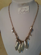 NWT ROBERT LEE MORRIS SOHO Two Tone Shaky Sculptural Frontal Necklace NWT - $30.22