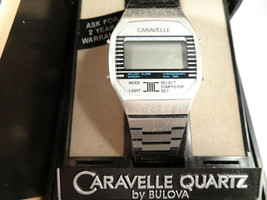 CARAVELLE QUARTZ LCD WATCH IN DOUBLE BOX RUNS FOR RESTORATION - $125.00