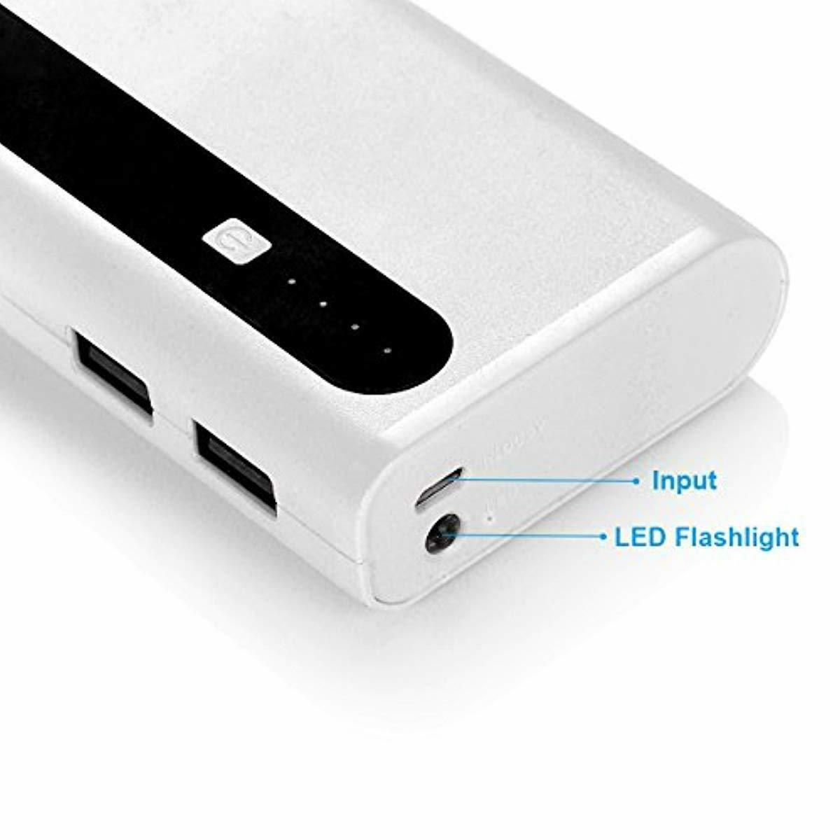 Aibocn Power Bank 10,000mAh Battery Charger with Flashlight for Iphone Samsung