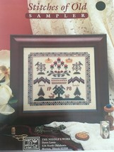 The Needle's Work Stitches of Old Sampler Rare Counted Cross Stitch Pattern - $7.19