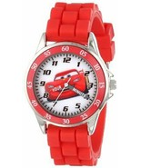 Cars Kids' Analog Watch with Silver-Tone Casing, Red Bezel, Red Strap - - $14.59