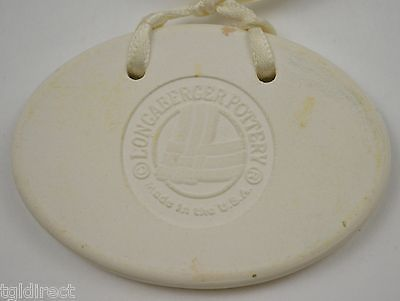 Longaberger Pottery 1999 Baby Basket Tie-On Decorative Collectible Home Decor