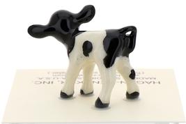 Hagen-Renaker Miniature Ceramic Cow Figurine Holstein Bull Cow and Calf Set image 5
