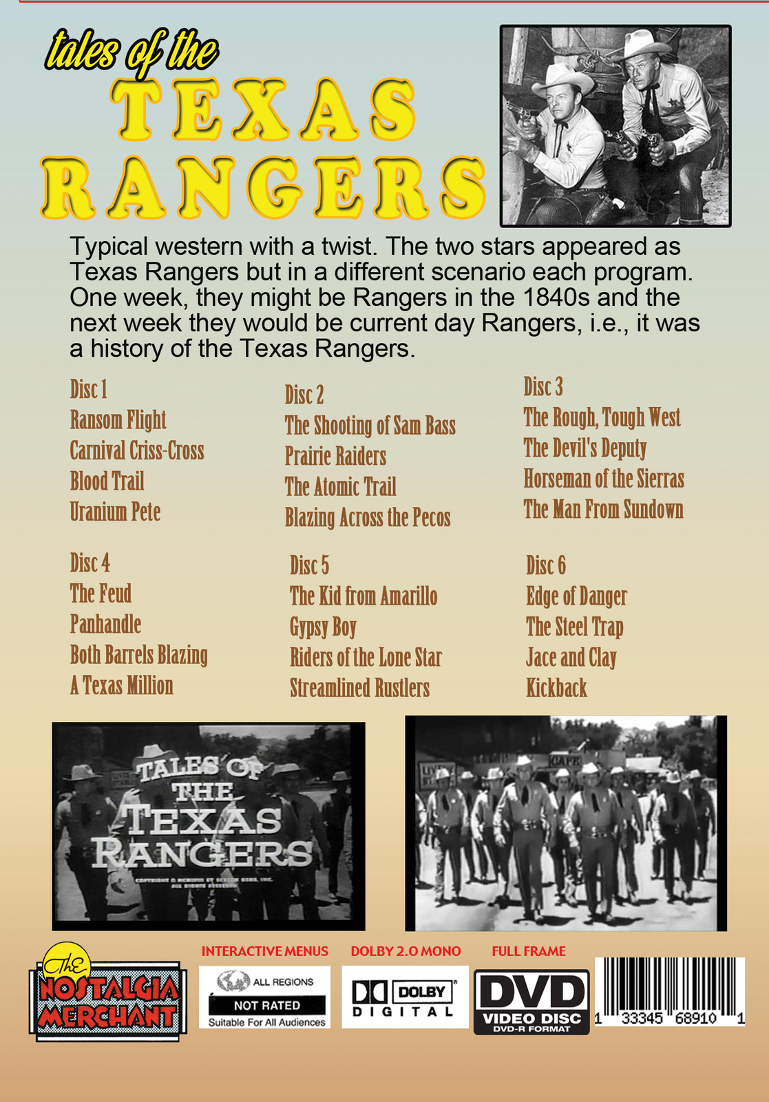 Tales of the Texas Rangers TV Collection