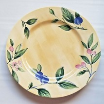 Nikko Ceramic Spring Dance Dinner Plate Yellow Plums, Berries Discontinued Japan - $19.70