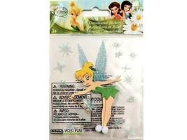 """EK Success Disney Fairies """"Tinker Bell"""" Dimensional Glitter Sticker Set #DJBP007"""