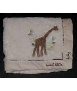 """Koala Baby Giraffe Tan Fleece Security Blanket Lovey 30"""" x 40"""" Sweet Little Baby - $24.70"""