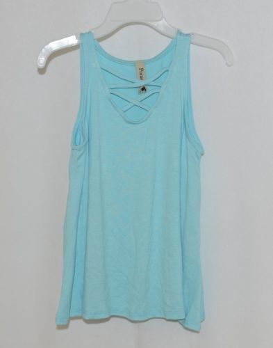 Pomelo Sky Blue Tunic Top Sleeveless Summer Top Girls Size Extra Small