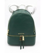 NWT MICHAEL Michael Kors Rhea Zip Green Leather Backpack Bag New $298 - $198.00