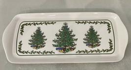 "Spode Like Christmas Tree  15"" Melamine Sandwich Tray - $10.39"