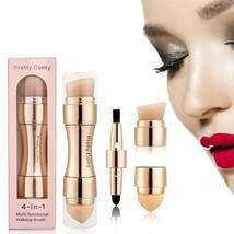 4 in 1 Makeup Brush Set, Eyeshadow Eye Lip Face Concealing Blush Foundat... - $3.95