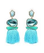 Tassel Earrings Cute Dangle Crystal Earring Thread Jewelry Bohemian Drop... - $8.57