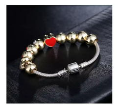 Emoji Charm Bracelet with 10 Gold Plated Charms - 1x w/Random Color and Design image 4
