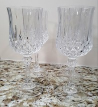 "Cristal D'arques Longchamp Crystal Wine Glasses 7"" - $15.00"