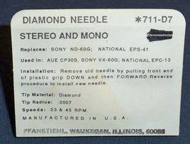 711-D7 NEEDLE STYLUS for Sony ND-60G Panasonic EPS 38 EPS 41 Magnavox 560435 image 3