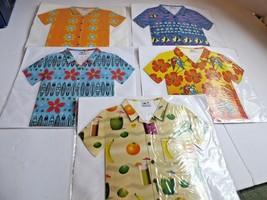 Lot of 5 Hawaiian Shirt Note Cards & Envelopes - Unique, Tropical. Parro... - $7.77