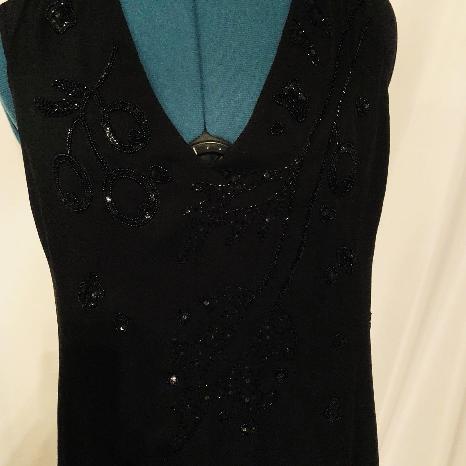 Armani Collezioni Black Halter Lined Dress Size 10 EU 46 Prom Evening image 3