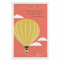 Hot Air Balloon Kitchen Towel Every Smile Makes You A Day Younger New Di... - $14.84