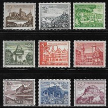 1940 WWII Winter Relief Set of 9 Germany Postage Stamps Catalog B160-68 MNH