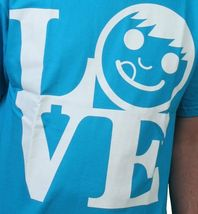 Neff Uomo Blu Turchese Love Statua Ciuccio Viso T-Shirt W11316 Nwt image 3