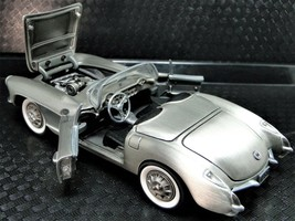 Sculpture Art Race Sport Car 1957 Chevy Corvette Chevrolet Vintage Pewte... - $449.00