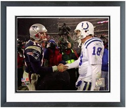 PEYTON MANNING/TOM BRADY AFC Championship NFL Framed/Matted 16X20 Photo ... - $70.95