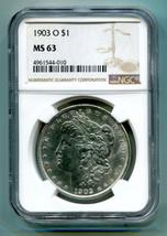 1903-O MORGAN SILVER DOLLAR NGC MS 63 NICE ORIGINAL COIN PREMIUM QUALITY PQ - $545.00