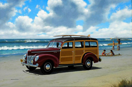 Woody at the Beach Metal Sign by Stan Stokes - $34.95