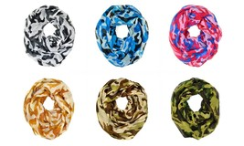 Camouflage Camo Print Hunting Outdoor Circle Loop Infinity Scarf Multi C... - $6.45