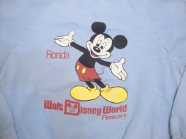 Vintage Walt Disney World Mickey Mouse Florida Resort Crewneck Sweatshirt M - $37.61