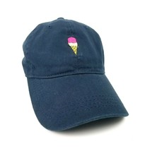 David And Young Baseball Cap Hat Ice Cream Cone Embroidery Navy Blue New - $14.00