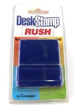 Desk Stamp Red RUSH w/ Built in Stamp Pad NEW 25,000 Impressions by Xsta... - $6.99
