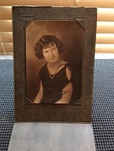 Antique Original Photograph Young Lady Studio Portrait Signed - $6.00