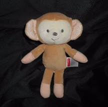 "8"" FISHER PRICE SWEET SURROUNDINGS BABY MONKEY BROWN STUFFED ANIMAL PLUS... - $16.69"