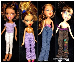 MIXED LOT OF 4 PREVIOUSLY PLAYED WITH BRATZ DOLLS LOT + Extras - $24.74