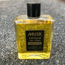 MUSK Cologne For Men 4 oz  D & B Products Inc. NO BOX 95% Full Vintage - $18.89