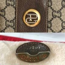Auth GUCCI Supreme Boston Bag Brown OLD Gucci Vintage GG Plus Logo Zippe... - $537.57