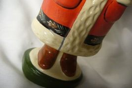 Vaillancourt Folk Art , Red Santa with Tree , signed by image 5