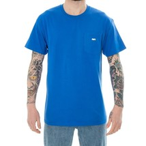 T-SHIRT MAN OBEY JUMBLED POCKET TEE 163061216 BASIC TEE MAN TRIBES BLUE - $58.29