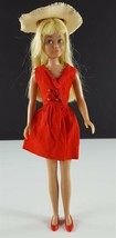 Skipper 1901 Red Sensation 1964 Red Dress Straw Hat Red Flats Original C... - $19.79