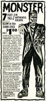 Primary image for 1950's Frankenstein Monster - Honor House Comic Book Advertising POP Art Poster