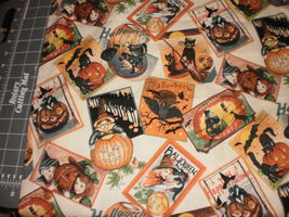 Double Double Toil & Trouble by RJR Fabrics 2006 vintage style Halloween... - $24.95