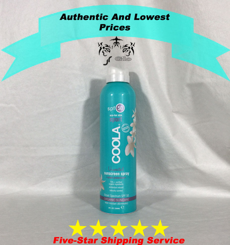 Primary image for Coola Sport Sunscreen Spray Unscented SPF 50  8oz / 236 ml