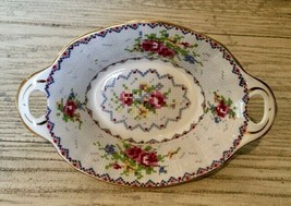Royal Albert Petit Point Oval Sweet Meat Relish Dish Needlepoint Floral ... - $9.49