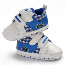 Free Shipping Blue Baby Walking Shoes Leather Toddler Shoes Size 1,2,3 L6482 image 3