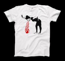 Banksy Lovesick Girl Throwing Up Hearts Artwork T-Shirt, Graffiti Street... - $19.75+
