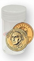 Round Small Dollar Coin Storage Tubes 26mm by BCW 5 pack - $5.74