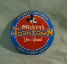 Disneyland Mickey's Toontown Mickey Mouse Disney Button - $15.95