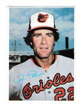 1980 TOPPS BASEBALL SUPERSTARS 5 x 7 PHOTO CARD JIM PALMER RARE WHITE BACK - $4.00